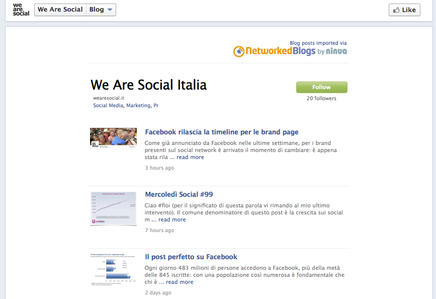 We Are Social Blog-App