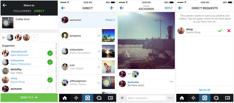 Instagram Direct user experience