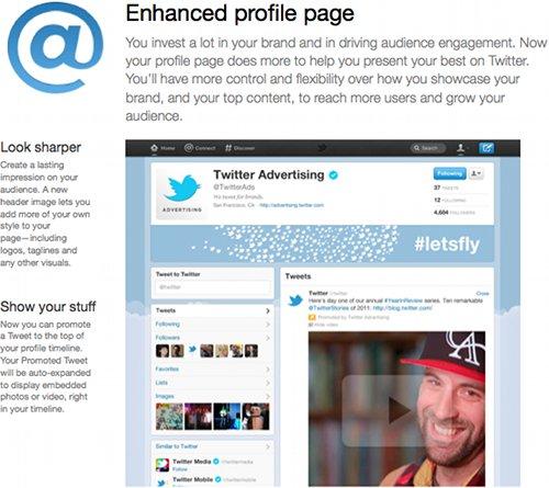 Enhanced profile page