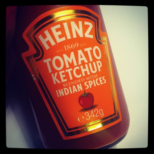 Heinz Tomato Ketchup blended with Indian Spices bottle