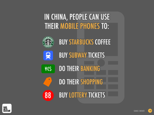 WE ARE SOCIAL - MOBILE FUNCTIONALITY IN CHINA