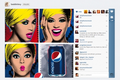 Beyonce instagram ad