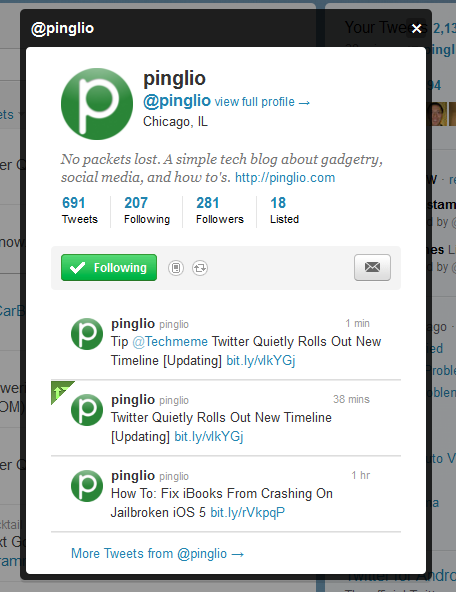 twitter timeline updates we are social
