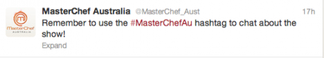 MasterChef Twitter hashtag swamped with spammers    Screen Shot 2012 05 07 at 12.56.01 PM1 468x84