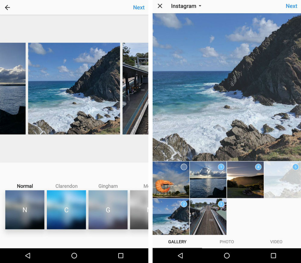 Instagram Multi-Photo Albums