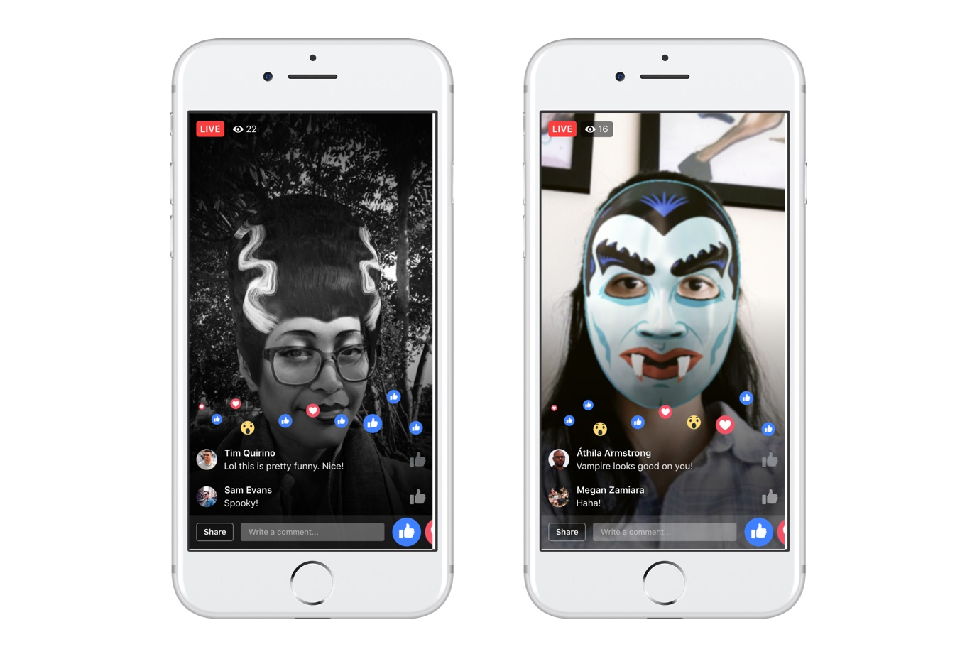 Facebook Live Halloween Effects