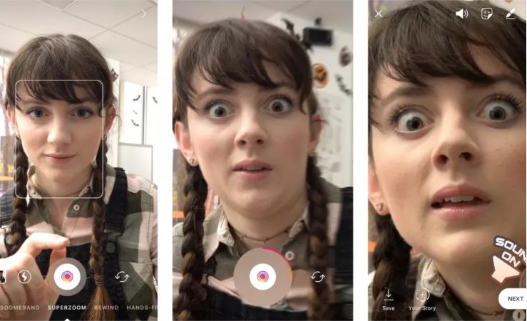 Snapchat Superzoom