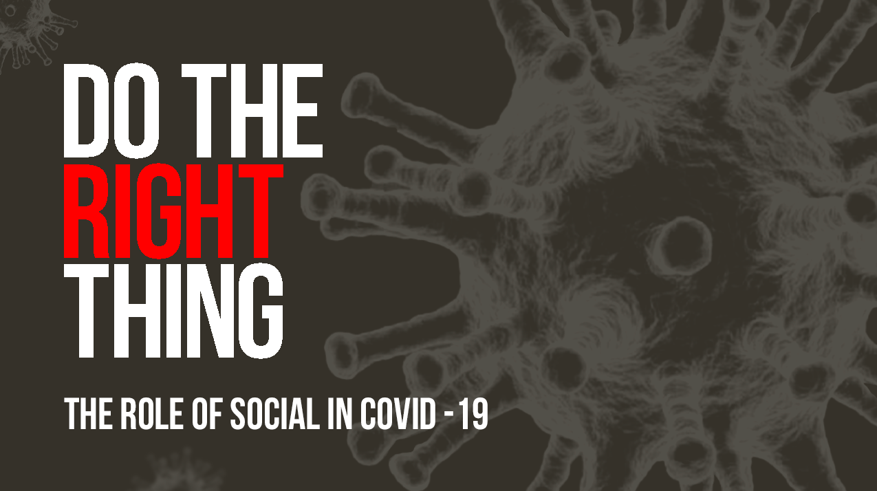 Do the right Thing the Role of Social Media