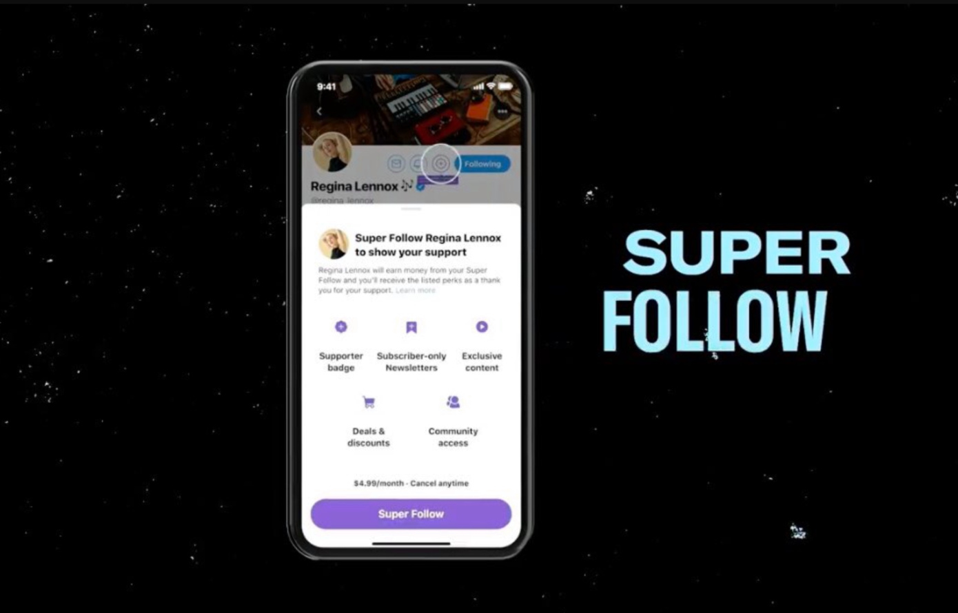 Super Follow das neue Feature bei Twitter.