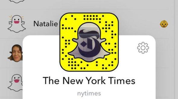 Le New York Times débarque sur Snapchat Discover
