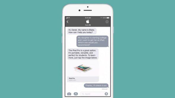 Business Chat, un service clientèle sur iMessage