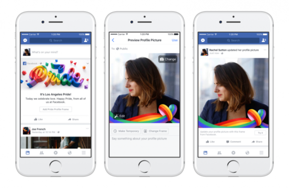 Facebook se met aux arcs-en-ciel pour célébrer le mois de la Gay Pride