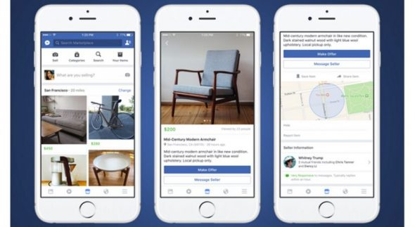 Facebook teste les Ads sur son Marketplace