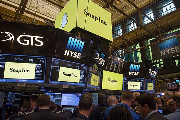 Snapchat en difficulté sur les places boursières