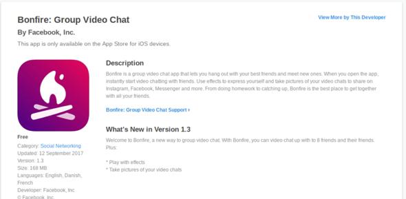 Facebook publie en secret une nouvelle app : Bonfire