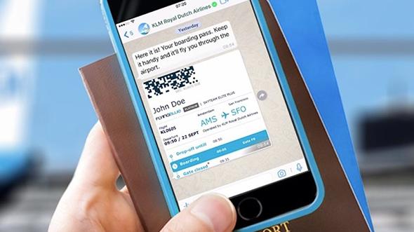 KLM fait affaire avec WhatsApp