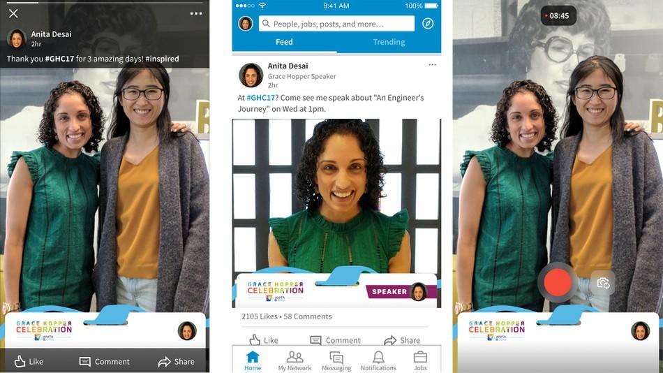 LinkedIn intègre les filtres géolocalisés sur ses vidéos