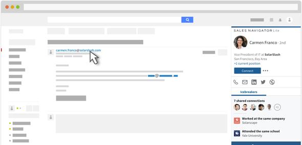 Linkedin lance Sales Navigator Lite sur Gmail