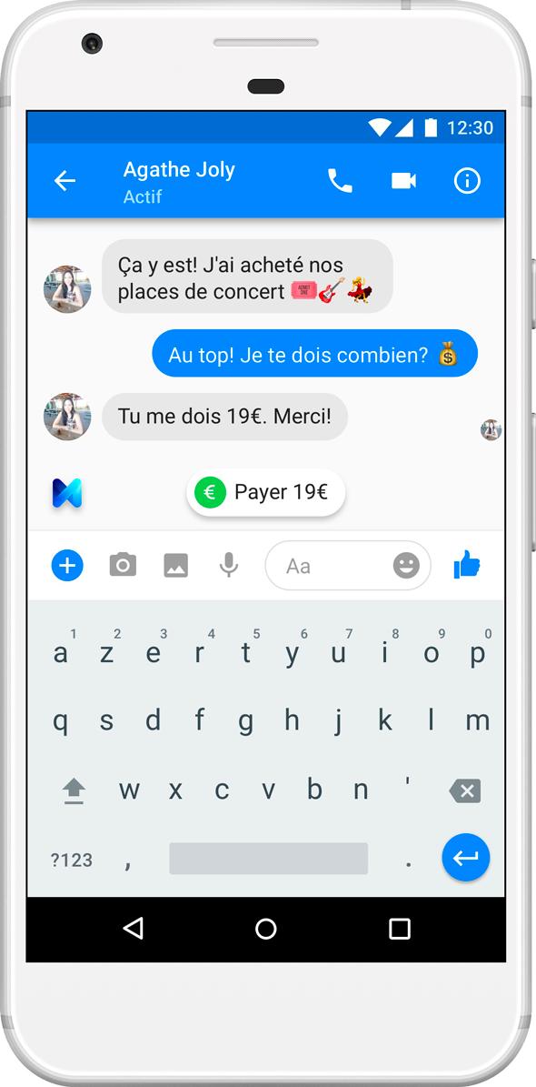 Facebook Messenger : vous pouvez désormais envoyer de l'argent dans l'app