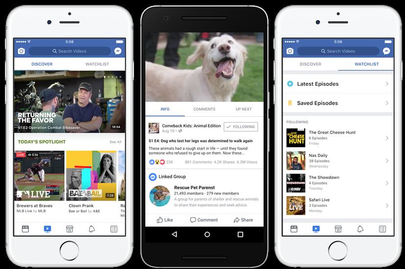 Facebook veut favoriser les contenus longs, et introduira des pre-roll pour Watch.