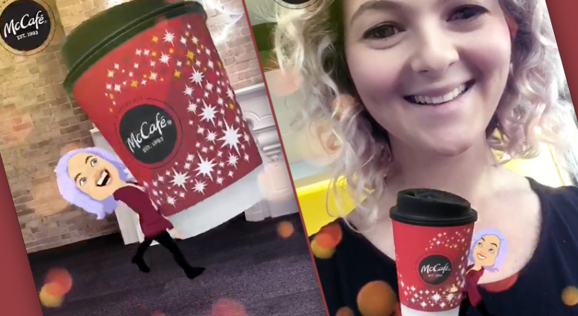 McDonald's sponsorise un Bitmoji qui vole votre café en AR