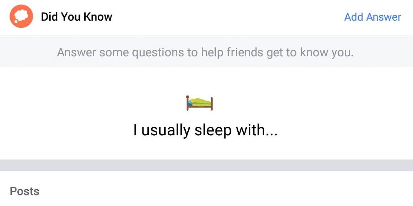 Facebook supprime sa question sur le sommeil