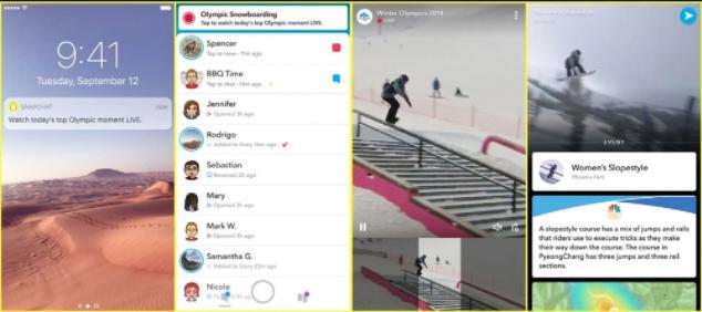 Une association inédite entre NBC et Snapchat