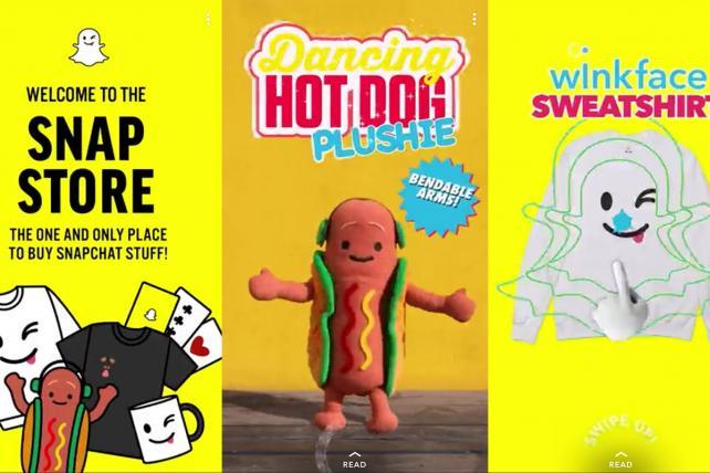 Snapchat ajoute une capsule e-commerce dans son application