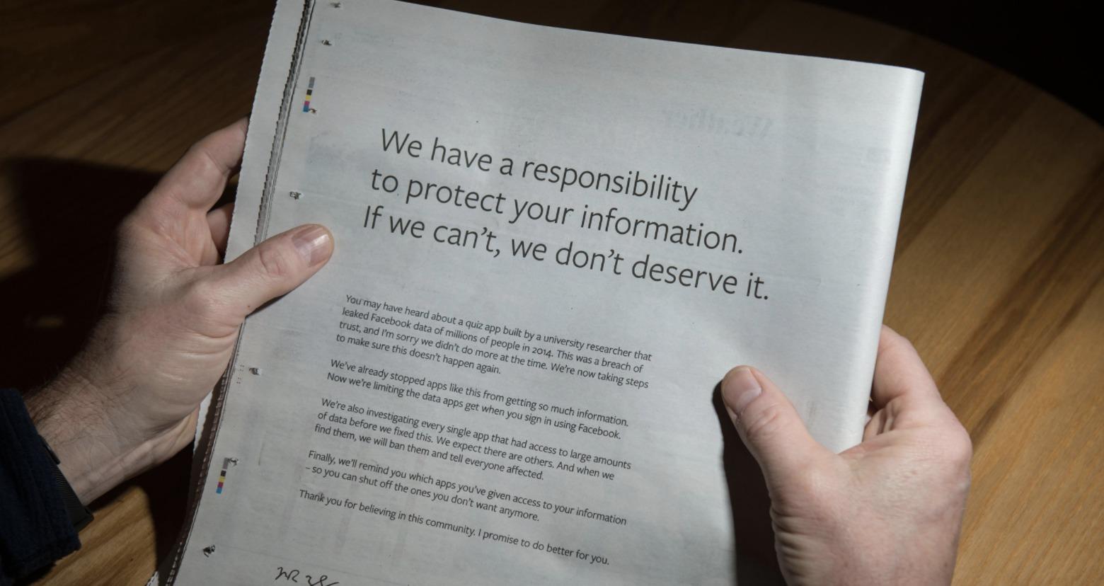Cambridge Analytica : Facebook sort de son silence