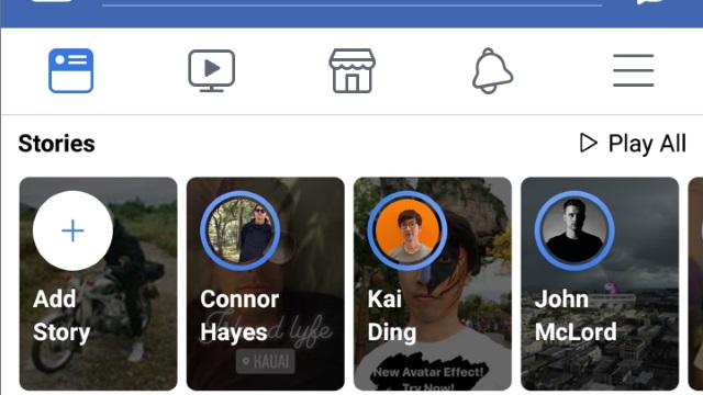 Trois pistes en test pour rendre les Stories sur Facebook plus accessibles