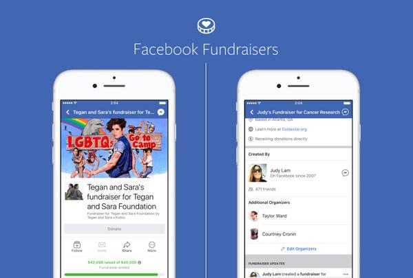 De nouveaux outils pour Facebook Fundraisers