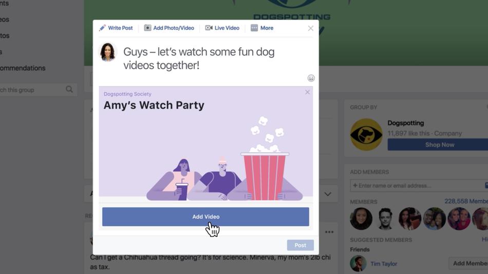 Watch Parties de Facebook est aujourd'hui disponible à l'ensemble des utilisateurs