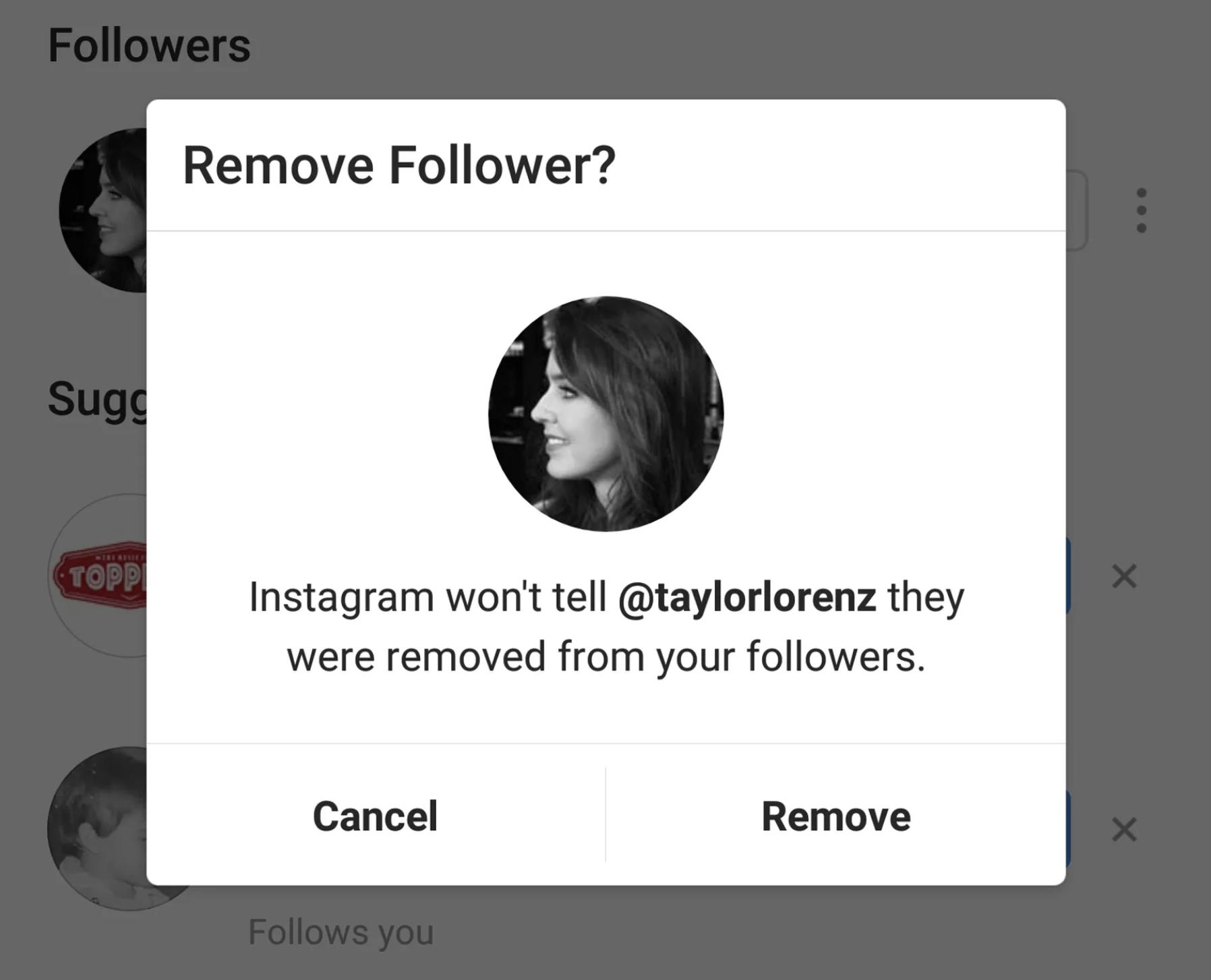 Instagram : les compte publics bientôt autorisés à retirer des abonnes