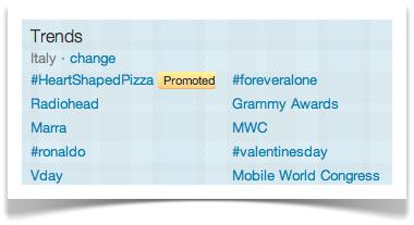 Trending topics - esempio