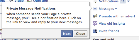 Private Message for Pages