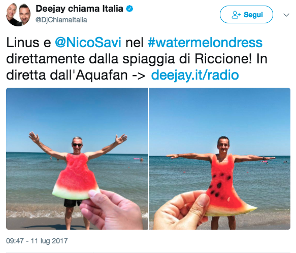 Radio Deejay #watermelondress