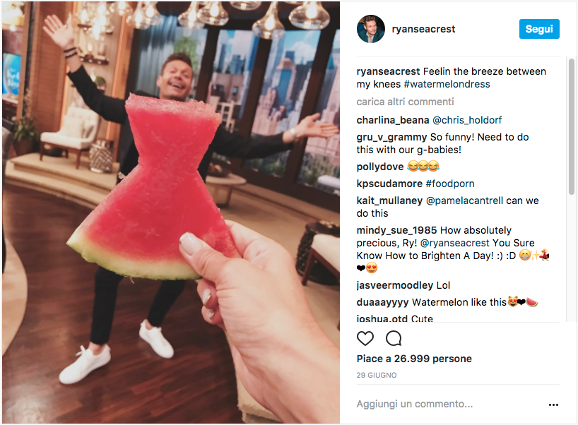 Ryan Seacrest #watermelondress