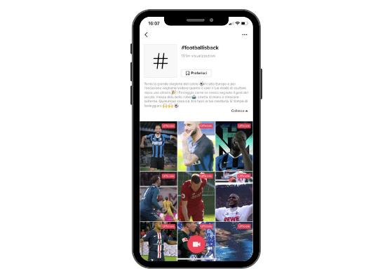 TikTok e il calcio italiano: un amore a colpi di challenge Fonte: TikTok Newsroom