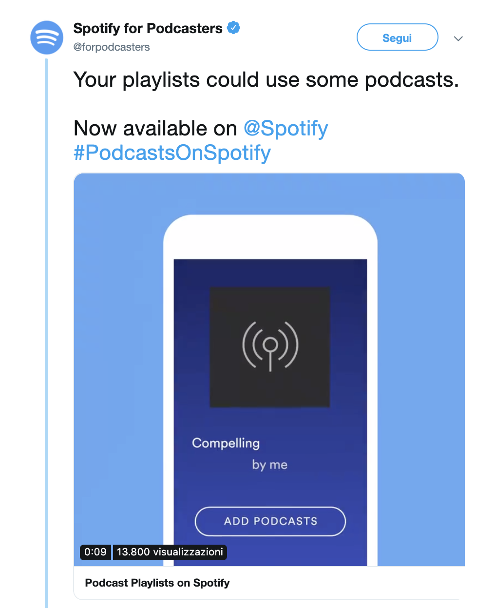 Spotify podcast playlist