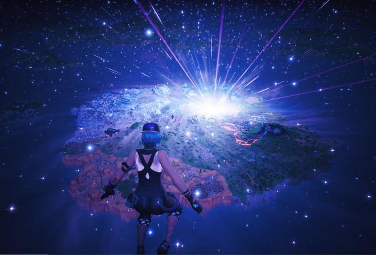 Immagine del buco nero in Fortnite