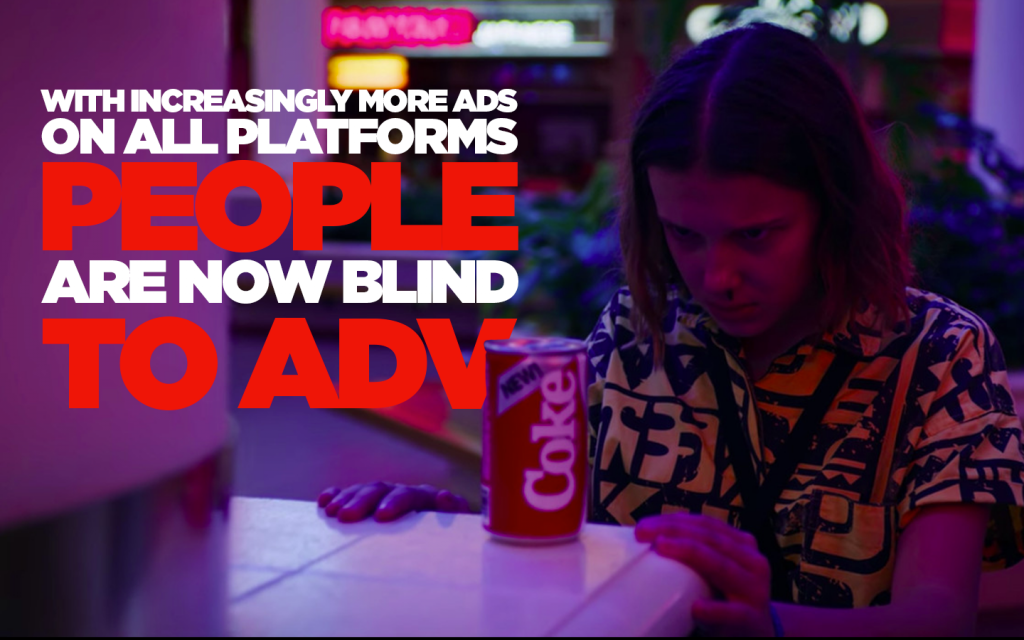 We Are Social / We Are All F**k'd Up / People are now blind to adv