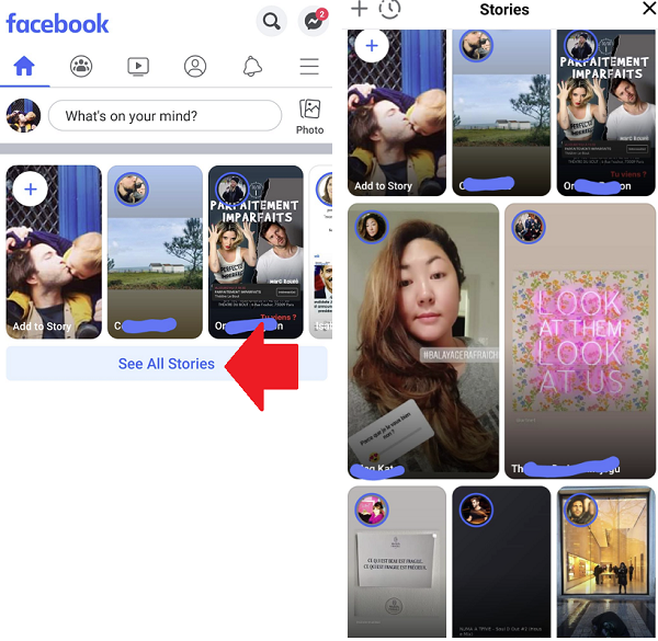 Facebook See All Stories