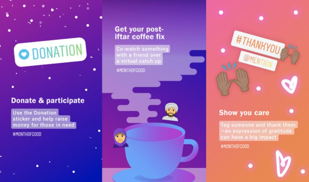 Instagram Donation sticker