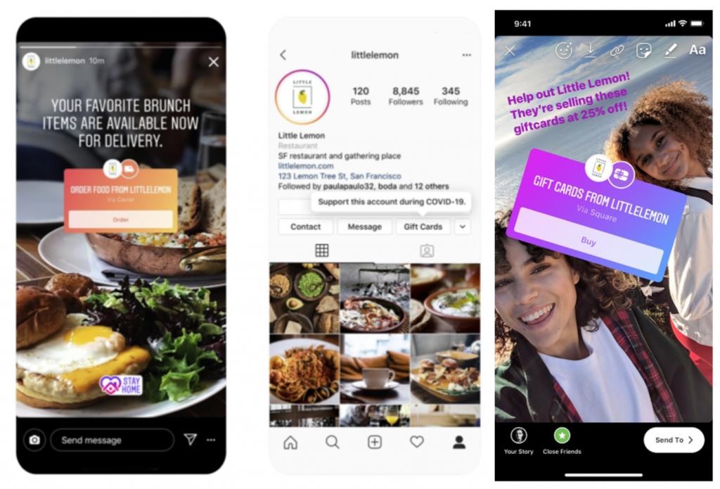Instagram sticker social lockdown delivery