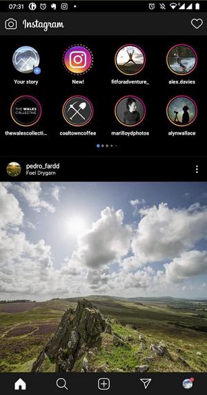 stories feed doppio instagram test