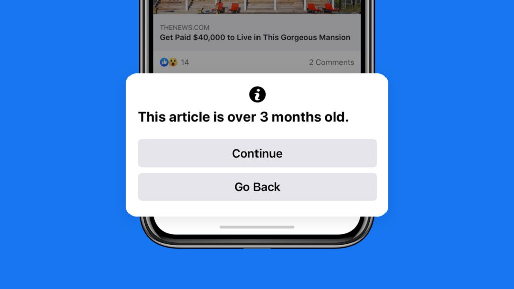 facebook trasparenza notifica articoli vecchi 90 giorni