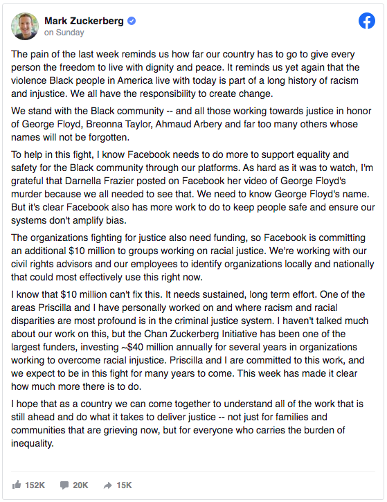 Facebook social #blacklivesmatter