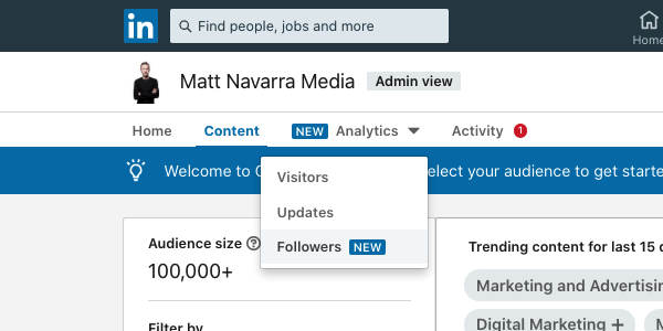 linkedin follower