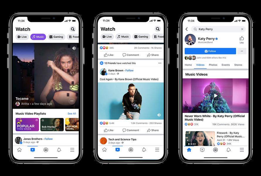 facebook music videos