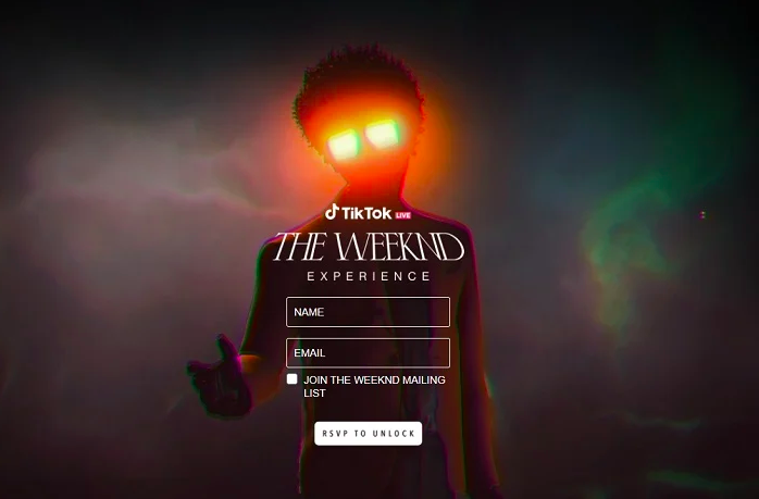 the weeknd live tiktok